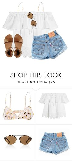 """""""5!!!!!!"""" by lydia-hh ❤ liked on Polyvore featuring Marni, Madewell, Illesteva, Levi's and Steve Madden"""