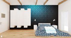 Sypialnia na poddaszu www.facebook.com.designale - zdjęcie od Ale design Grzegorz Grzywacz - Sypialnia - Styl Minimalistyczny - Ale design Grzegorz Grzywacz