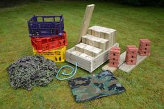 Loose Parts Play - lots of useful elements for construction outside or inside