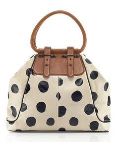 Polka dot purse.