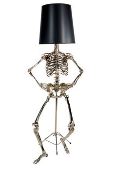 philippe lamp by zia priven 2 Oh, Them Bones! Life Size Philippe Lamp by Zia Priven is to Die For! Unusual Floor Lamps, Housing Works, Skull Decor, Gothic House, Gothic Room, Deco Design, Memento Mori, Light Up, Home Accessories
