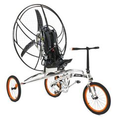 It's a bicycle, flying machine, and camping tent all built into one device: http://cnet.co/13YSndn