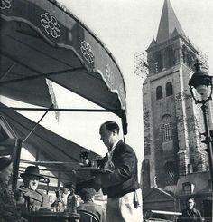 mimbeau:  Saint-Germain -  Café Les Deux Magots Paris circa 1950 Janine Niepce