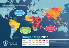 The cost of hunger to developing nations is an estimated US$450 billion per year. The number of undernourished people worldwide is just under 1 billio