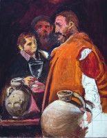 El aguador de Sevilla.Velazquez. Óleo sobre lienzo.