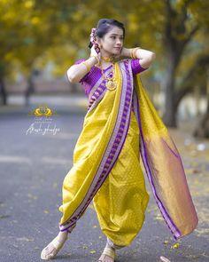 Kashta Saree, Sari, Marathi Saree, Nauvari Saree, Fashion, Saree, Moda, Fashion Styles, Fashion Illustrations