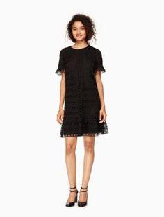 mixed lace shift dress | Kate Spade New York