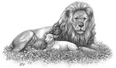 The Lion and The Lamb by DianaGlanco on Etsy