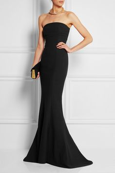 Elizabeth and James Kendra Strapless Stretch-Crepe Gown | NET-A-PORTER