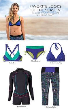 Check out our Favorite Looks at the prAna store in Denver for Summer 2015! Our Taala Top, Ailani Bottom, Lahari Top, Azura Shortie, and Rai Swim Tights make our list. What's on yours?
