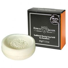 Edwin Jagger Traditional Shaving Soap, Sea Buckthorn, 65 g Shaving Trimmer, Shaving Brush, Shaving Soap, Edwin Jagger, Shaving Supplies, Classic Shaving, Sandalwood Essential Oil, Male Grooming, After Shave