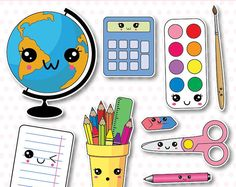 off, school supplies clip art, back to school clipart, kawaii school Cute Kawaii Drawings, Kawaii Doodles, Cute Clipart, Vector Clipart, Griffonnages Kawaii, Back To School Clipart, Cute Fonts, Dibujos Cute, Doodle Art