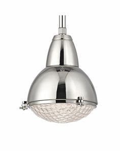 Hudson Valley Belmont Polished Nickel One Light 17 Inch High Pendant With Clear Glass 8109 Pn Transitional Pendant Lighting, Contemporary Pendant Lights, Ceiling Light Fixtures, Ceiling Pendant, Ceiling Lights, Hudson Valley Lighting, Vintage Lamps, Vintage Industrial, Mini Pendant