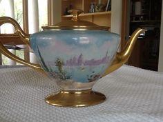 Vintage Lenox Hand Painted Belleek Tea Pot