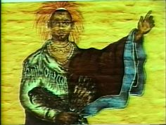 This is a close-up of the figure of Black Hawk in the mural painted by Donna Friedman's Environmental Design Workshop in 1976.