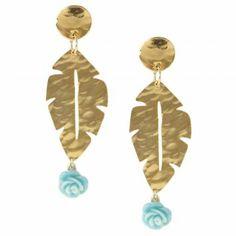Me encanta! Miralo! Aretes Mary Dorado-Azul  de Mary  en Dafiti Color Dorado, Color Azul, Drop Earrings, Jewelry, Fashion, Blue Nails, Gold Accessories, Bronze, Pendants