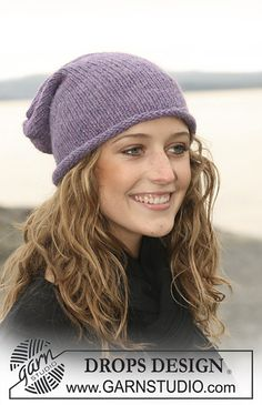 """Ravelry: 108-17 hat in stockinette st in 2 threads """"Alpaca"""" pattern by DROPS design"""