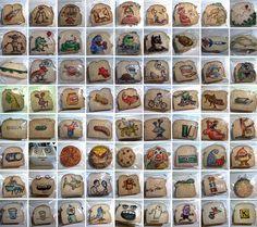David LaFerriere - Desde 2008, este diseñador gráfico ha estado ilustrando las bolsas de sándwich de sus hijos. Incluso las ha fotografiado casi todas, un total de más de 1.100 bolsas. #food #art