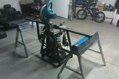 Newly built Chopsaw cart/ Grinding station