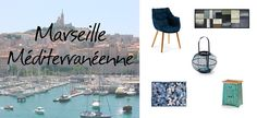 #Marseille #Kave #design - Jeudi, cap au Sud. S'il devait y avoir un seul et unique symbole de Marseille, ce serait, sans doute, Notre Dame de la Garde. En nous hissant tout en haut de ses marches, le panorama exceptionnel qu'offre son parvis est à couper le souffle. On domine l'ensemble de la ville la « cité phocéenne » et l'entrée de la baie. Cette ville nous a naturellement inspiré la couleur bleue, pour notre sélection de produits...
