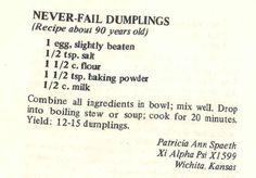 Never fail dumplings for chicken and dumplings