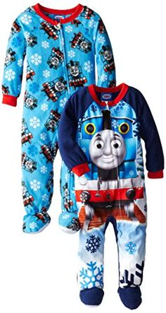AME Sleepwear Little Thomas the Tank Engine Winter Trains Footed Blanket  Sleeper -- Check out   4c374f51a