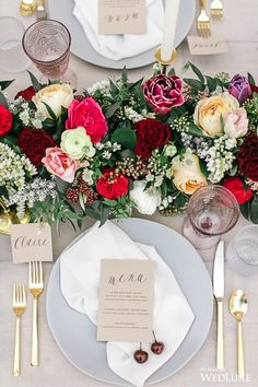WedLuxe– An Outdoor Styled Shoot Abounding With Cherry Blossoms | Photography by: Tamara Lockwood Photography Follow @WedLuxe for more wedding inspiration!