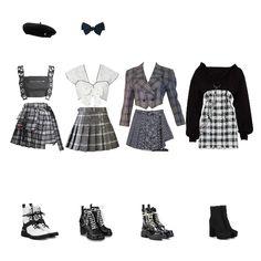 Korean Girl Fashion, Blackpink Fashion, Kpop Fashion Outfits, Stage Outfits, Edgy Outfits, Korean Outfits, Retro Outfits, Mode Outfits, Dance Outfits