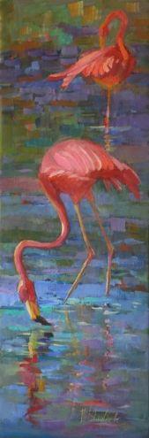 Original artwork from artist Elizabeth Blaylock on the Daily Painters Gallery Flamingo Painting, Flamingo Art, Pink Flamingos, Daily Painters, Pink Bird, Impressionist Paintings, Pretty Birds, Beach Art, Bird Art