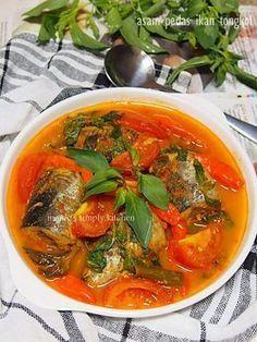 asam pedas ikan tongkol Fish Recipes, Seafood Recipes, Asian Recipes, Chicken Recipes, Cooking Recipes, Ethnic Recipes, Recipies, Fish Dishes, Seafood Dishes