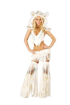 White Indian Top and Skirt Costume  http://www.girlielingerie.com/white-indian-top-and-skirt-costume.html