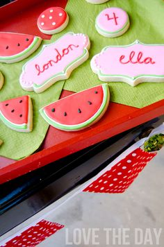 Watermelon Party by Love The Day with cookies by @Glorious Treats!