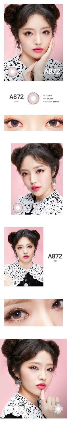 カラコン通販ザピエル   エー872 ピンク A872 Pink Circle Lenses, Korean Makeup, Makeup Tools, Chokers, Make Up, Beauty, Circle Glasses, Korean Makeup Look, Color Lenses