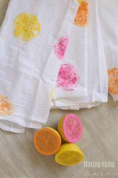 Citrus Stamped Tea T