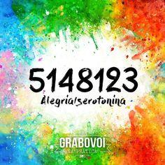 """ALEGRIA (Serotonina): 5148123 """"O segredo da felicidade é encontrar a nossa alegria na alegria dos outros."""" ~Alexandre Herculano  #GrabovoiNaPrática #Grabovoi #Alegria #Felicidade #serotonina #vocênocomando"""
