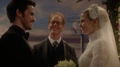 """After Emma said I do and Hook got this big grin on his face before Archie even said """"I now pronounce you husband and wife"""" made me laugh so hard I had tears! Good acting Colin!!"""