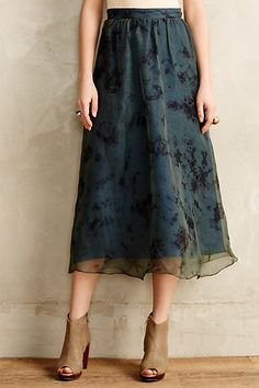 Organza Midi Skirt by Adiv #anthroregistry
