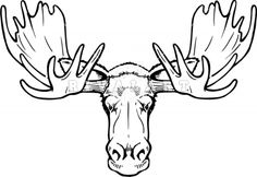 Moose Head Graphic - Misc. Pictures - Mascots - PhotographsImages.com