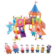 Action Figure Series of Amusement Park Peppa Pig Toys
