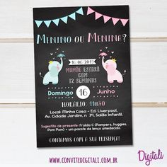 E Design, Baby Shower, Party, Kids, Gender Reveal, Reveal Parties, Tea Party Invitations, Digital Art, Children