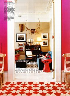 The owners of the Rug Company, Suzanne and Christopher Sharp's London home;   Vogue, March 2010