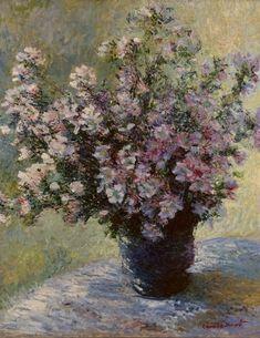 Bouquet de mauves, par Claude Monet