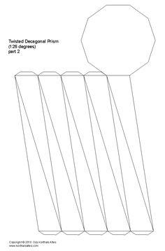 Net twisted decagonal prism