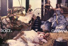 Dolce  Gabbana S/S 2006 ph: Steven Meisel Snejana Onopka, Marina Perez, Lily Donaldson, Anja Rubik, Marta Berzkalna