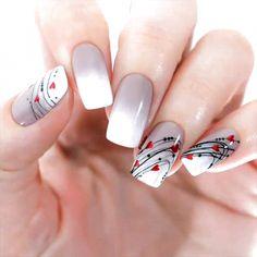 Valentine's Day Nail Designs, Nail Art Designs Videos, Simple Nail Designs, Acrylic Nail Designs, Nails Design, Nail Designs For Spring, Flower Design Nails, Valentine Nail Designs, Nail Art Flowers