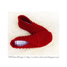 Ravelry: Red Rib Wrap Slippers by Sophie and Me-Ingunn Santini