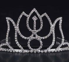Shiny Rhinestone High School Girl Wedding Prom Tiara Crown Headband