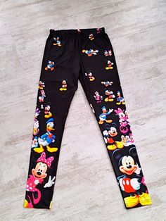 disney leggings | Disney Printed Leggings, Donald Duck, Mickey, Minnie, Mickey Mouse ...