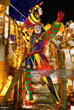Unidos da Tijuca participates in the parade on the Sambodromo during Rio Carnival on February 2015 in Rio de Janeiro, Brazil. Jester Halloween, Jester Costume, Halloween Costumes, Rio Carnival Costumes, Harlequin Costume, Circus Illustration, Carnival Of Venice, Brazil Carnival, Carnival Fashion