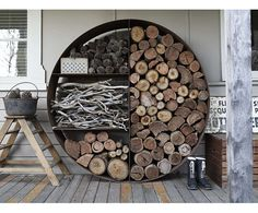 Fantastic way to stack wood this winter!